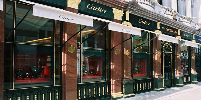 Cartier's flagship store in London, 175-177 New Bond Street, London W1S 4RN, England, U.K.