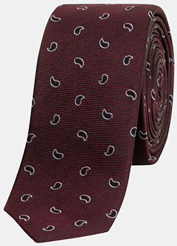 The Kooples Silk Tie with Cashmere Micro Patterns: £52.50.