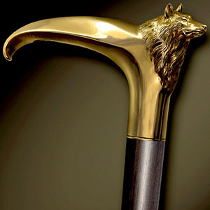 Cane with Bronze handle on the Ebony shaft by Boris Palatnik.