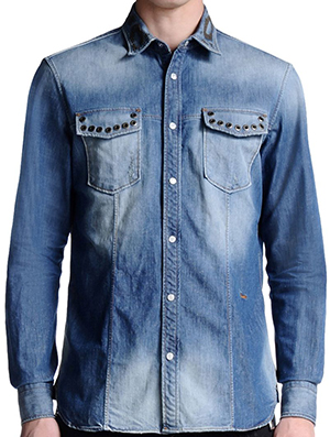 Just Cavalli Denim Men's Shirt: US$640.