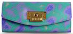 Just Cavalli Two-tone pattern, Framed closure, Removable shoulder strap, Internal compartments women's wallet: US$295.
