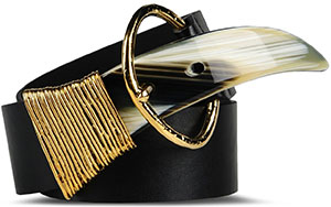 Just Cavalli Solid color, Metallic buckle closure Women's Belt: US$330.