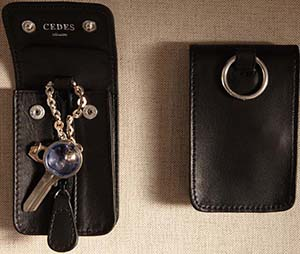 Cedes Milano Zipped key holder.