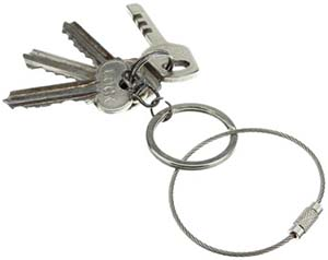 Meco Stainless Steel Wire Key chain Cable Key Ring.