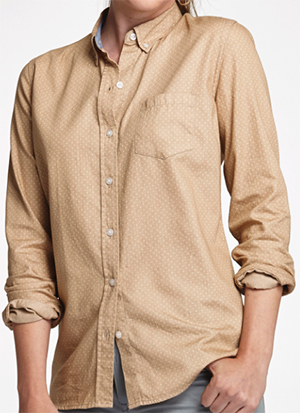 Johnston & Murphy Polka Dot Chambray Women's Shirt: US$108.