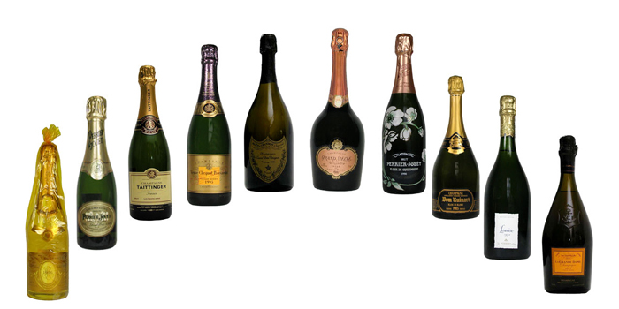 The most expensive champagne brands in the world.