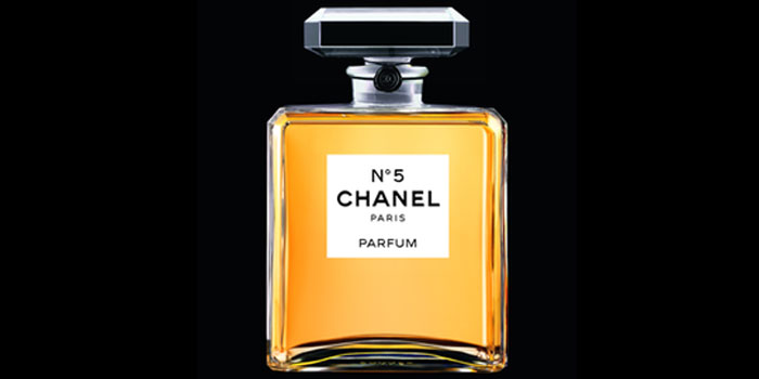Chanel No. 5 perfume. Released on May 5, 1921.