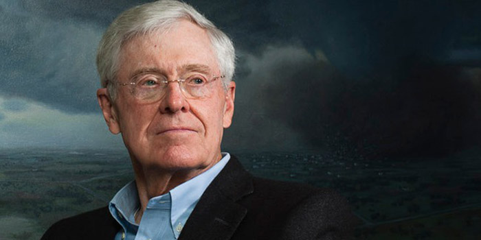 Charles Koch - world's sixth richest man: US$50.2 billion (as of December 31, 2013. Bloomberg Billionaires).