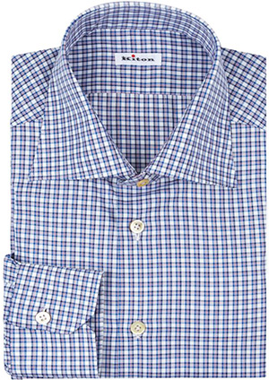 Kiton Multi Check Men's Shirt: £349.