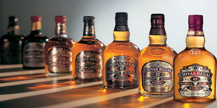 Chivas Regal blended Scotch whisky.