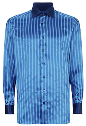 Zilli Contrast Collar Striped Silk Shirt: £1,150.