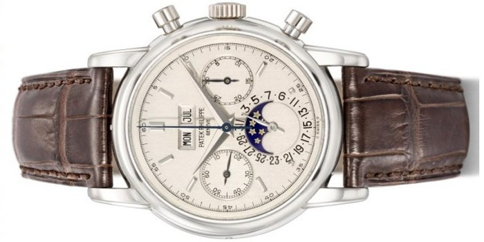 Patek Philippe Reference 2499, limited edition (only five pieces): US$3,655,757.