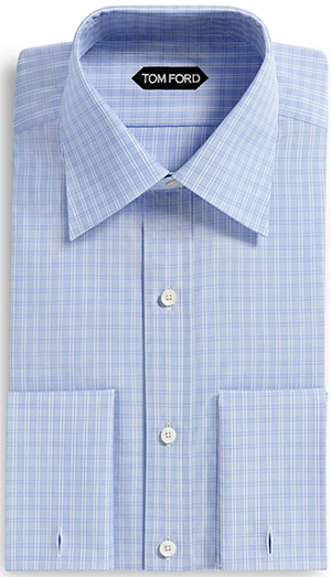 Tom Ford Classic Fit, Classic Collar French Cuff men's shirt: US$605.