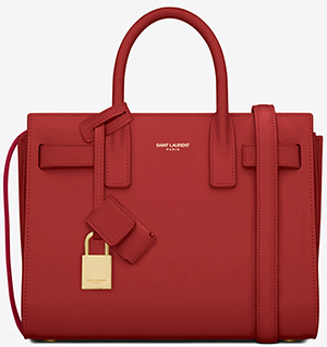 Yves Saint Laurent Classic Nano Sac de Bag in Lipstick Red Leather: €1,490.