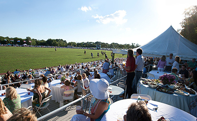 The Newport International Polo Series, held on the historic ground of Glen Farm in Portsmouth, Rhode Island.