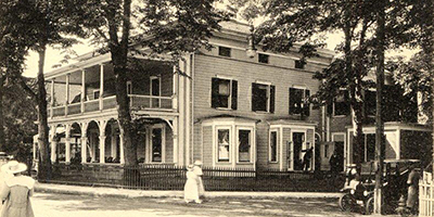 Newport Reading Room (circa 1910), 29 Bellevue Avenue, RI 02840, U.S.A. Founded in 1854, is a gentlemen's club.