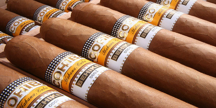 Cohiba Behike Cuban cigars - the most exclusive línea of the most prestigious Habanos brands.