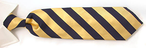 W.H. Taylor Shirtmakers Handmade Navy and Gold Regimental Stripe Silk Tie: £20.