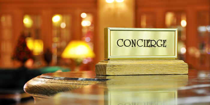 Concierge & hospitality services.