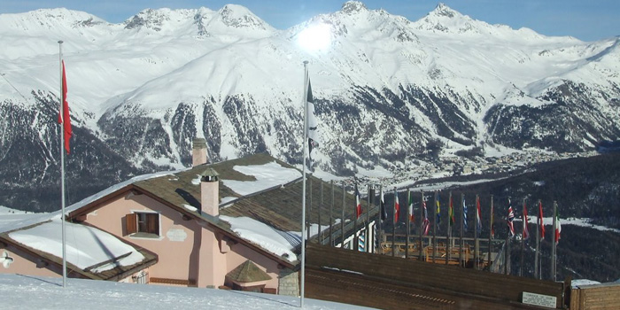 Corviglia Ski Club clubhouse, Corviglia - founded in the 1930 and remains one of the most prestigious clubs in the world.
