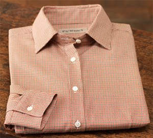 Purdey Ladies' Wool Cotton Houndstooth Shirt: £110.