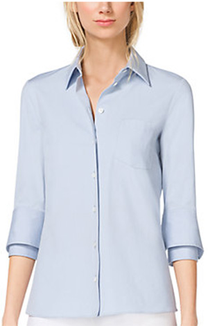 Michael Kors Double-Cuff Cotton-Poplin Women's Shirt: US$525.