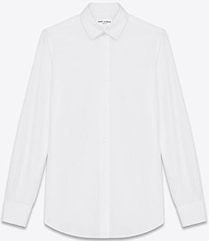 Saint Laurent Paris collar women's shirt in white cotton polin: US$790.