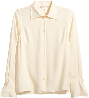 H&M Crêped Women's Shirt: US$49.95.