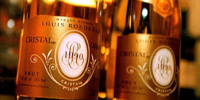 Cristal is the brand name of a Champagne produced by Louis Roederer.