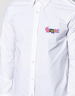 Love Moschino Men's Shirt With Croc Logo: US$239.
