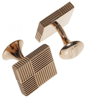 Richard James Rose Gold Square Cuff Links: £175.
