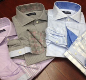 J. Lucas Clothiers custom made shirts.