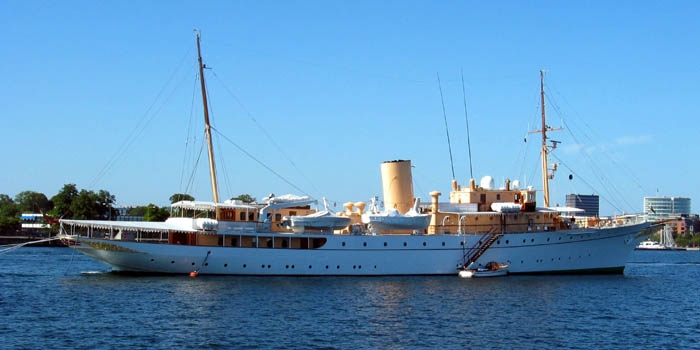 The Royal Danish Yacht M/S Dannebrog.