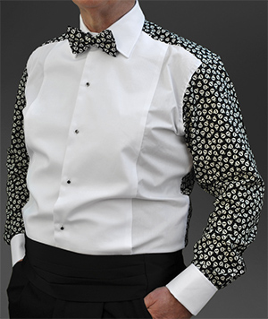 Skulls Glow in the Dark fun back patterned dress shirt: £74.99.