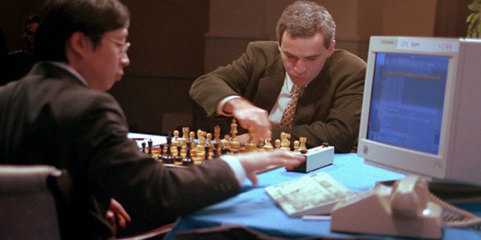 Deep Blue versus Garry Kasparov, February 1996.