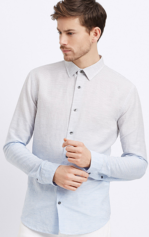 Vince Melrose Linen Cotton Dégradé Button Up Men's Shirt: US$245.
