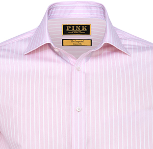 Thomas Pink normand stripe classic fit double cuff shirt: £225.