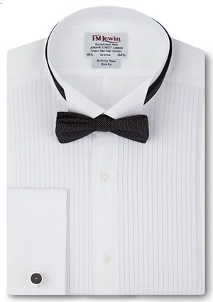 T.M.Lewin Slim Fit Pleated Wing Collar Evening Dress Shirt: £44.50.