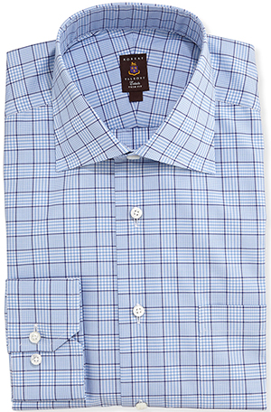 Robert Talbott Glen Plaid Twill Trim Fit Dress Shirt, Blue/Navy men's shirt: US$298.