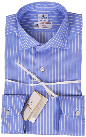 Truzzi Made in Italy, Hand Made stripe dress shirt, Giza 87: £122.85.