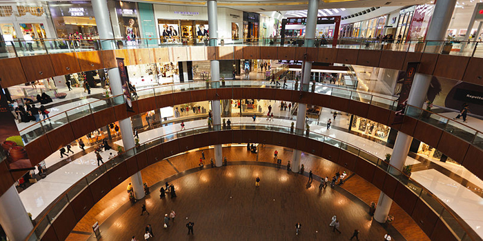 The Dubai Mall, Doha St., Dubai, United Arab Emirates. The world's largest shopping mall.
