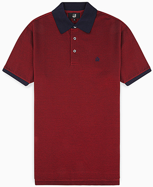 Dunhill Oxblood Soft Cotton Polo: £150.