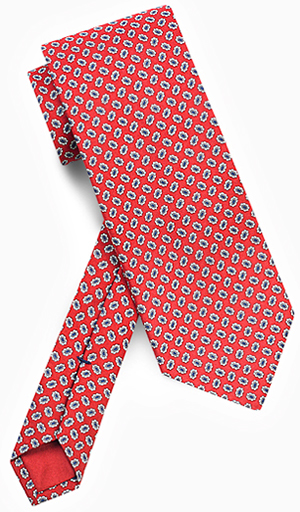 Dunhill Red Micro Motif Silk Tie: £95.