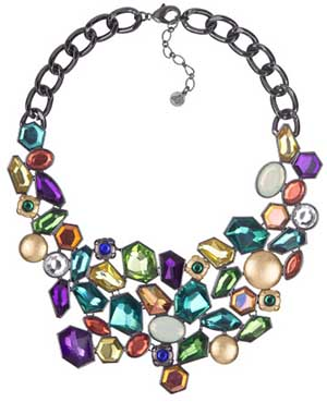 Sam Edelman Women's Multi Stone Bib Necklace: US$225.