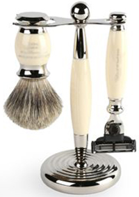 Harvie & Hudson Imitation Ivory Edwardian Shaving Set: £139.