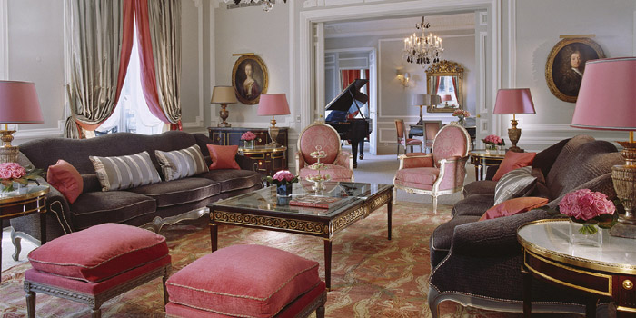 The Eiffel Suite at Hôtel Plaza Athénée, 25 avenue Montaigne, 75008 Paris, France.