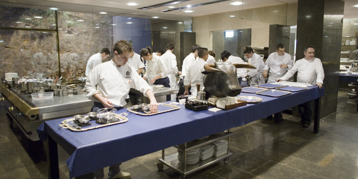 The kitchen at the now (as of July 30, 2011) closed legendary elBulli restaurant (Roses, Girona, Catalonia).