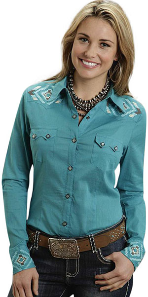 Stetson Emroidered Western Lawn Women's Shirt: US$90.