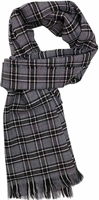 Emmett London Fine Merino Grey Black Check scarf: €47.50.