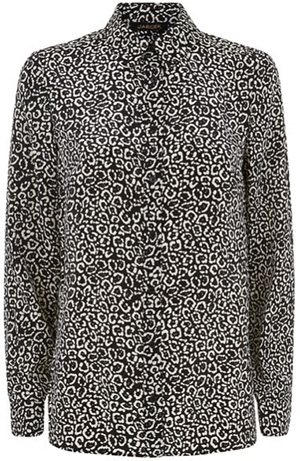 Jaeger Silk Little Leopard Women's Shirt: £175.